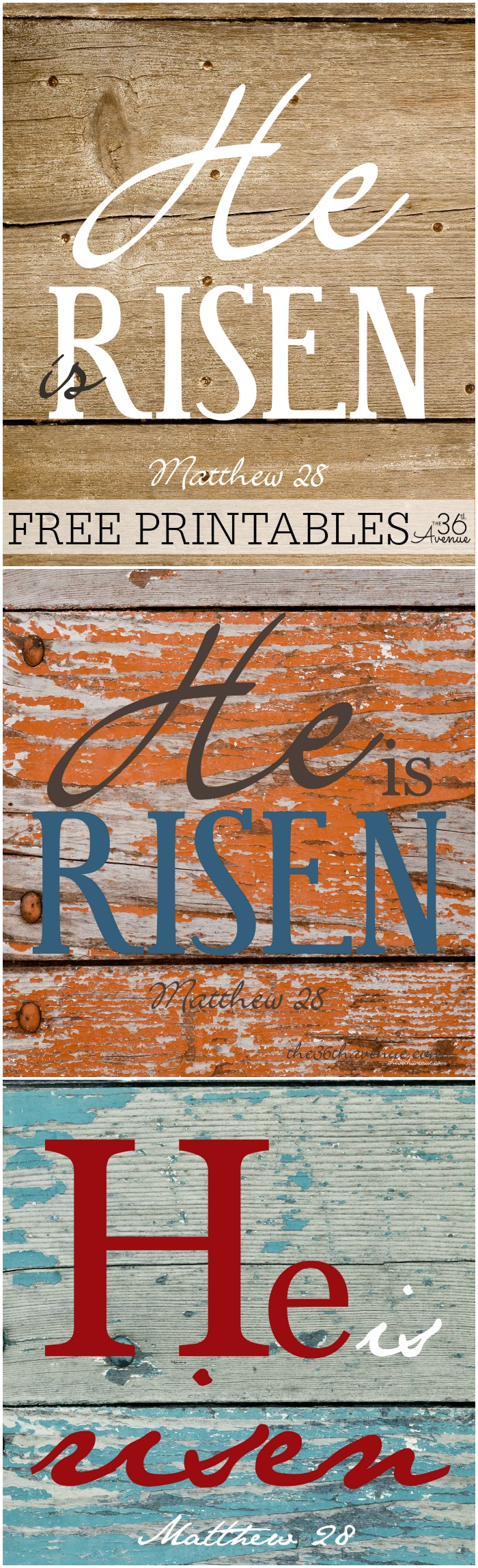 Free Printables - Easter He Is Risen at the36thavenue.com