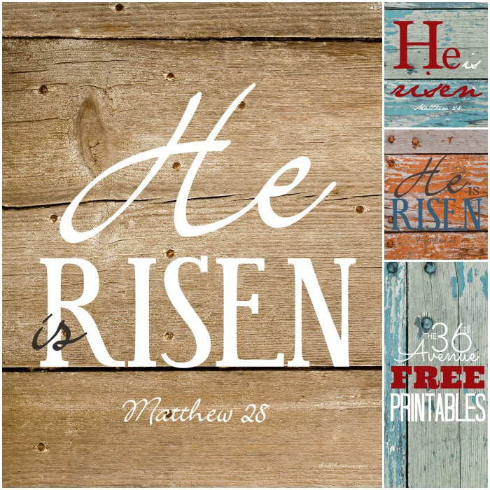Free Printables - Visit the36thavenue.com for these beautiful printables. Perfect to decorate for Easter! Pin it NOW and print the later!