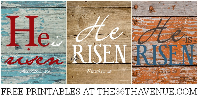He is Risen Free Printables by the36thavenue.com