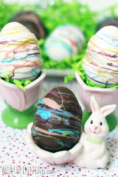 Nutella Marshmallow filled Godiva Eggs