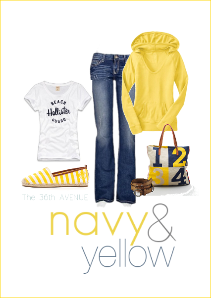 Yellow and Navy. the36thavenue.com