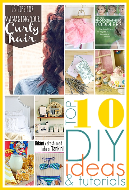 Top 10 DIY Ideas and tutorials. #DIY the36thavenue.com