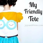 Adorable DIY Tote. Love it! jojoandeloise.com