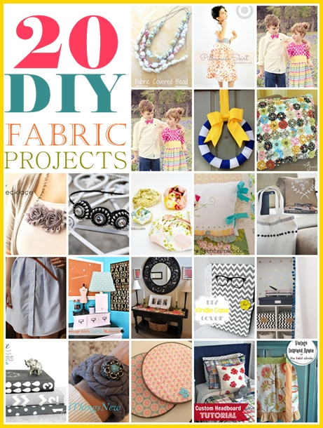 20 Fabulous Handmade Fabric Projects over at the36thavenue.com