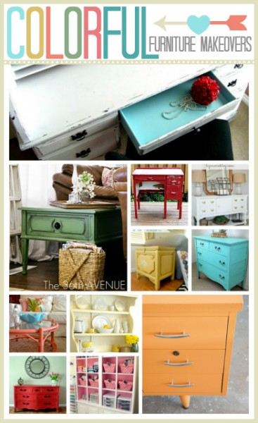 Colorful Furniture Makeovers... These are simply ADORABLE! the36thavenue.com