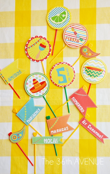 Cinco de Mayo Party Printables. Pin it now and have a FIESTA later.