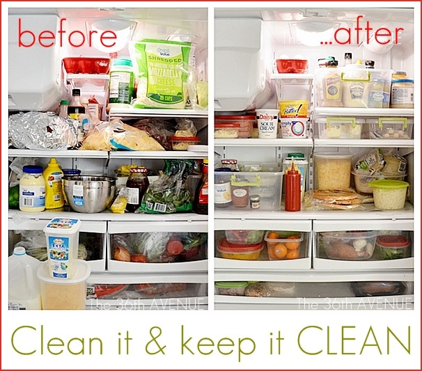 The 36th avenue how to clean a fridge the 36th avenue for How to keep kitchen clean and organized