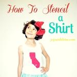 How to Stencil a Shirt