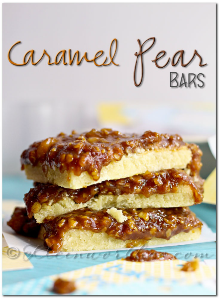 Caramel Pear Bars