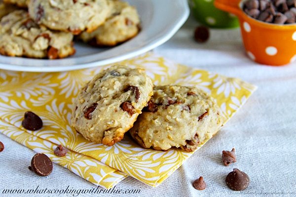 Chocolate Chip Banana Cookies by www.whatscookingwithruthie.com