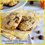 Chocolate Chip Banana Oatmeal Cookie Recipe