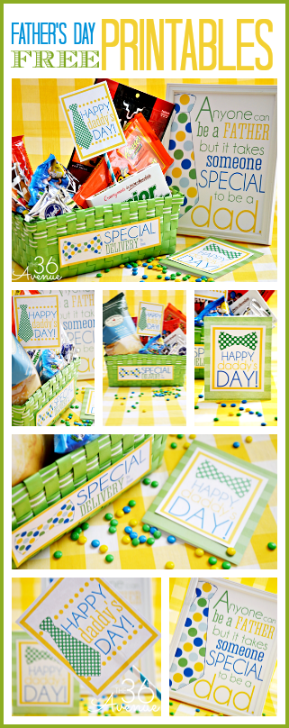 Father's Day Gift Idea and awesome free printable from the36thavenue.com
