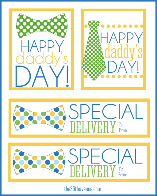 image relating to Free Printable Fathers Day Tags titled Fathers Working day Totally free Printable - The 36th Street