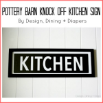 Kitchen Sign Tutorial