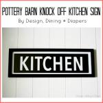 Kitchen Sign Tutorial