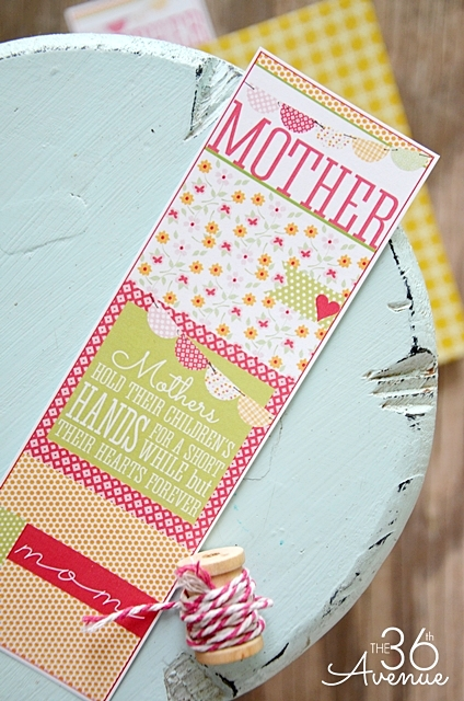 Bookmark Free Printable from the36thavenue.com Perfect for Mother's Day.