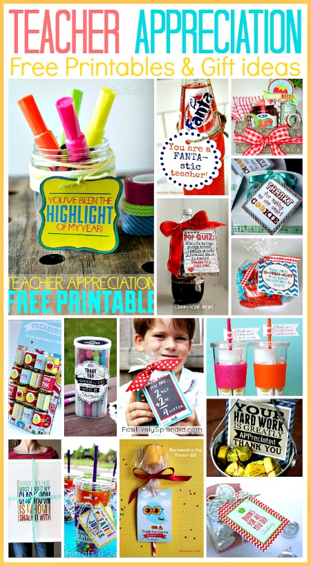 15 Teacher Appreciation Free Printables... perfect for last minute gift ideas! the36thavenue.com