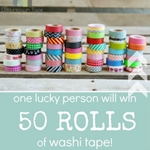 50 Rolls of Washi Tape GIVEAWAY the36thavenue.com