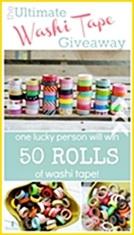 50 Rolls of Washi Tape... What an awesome giveaway! the36thavenue.com