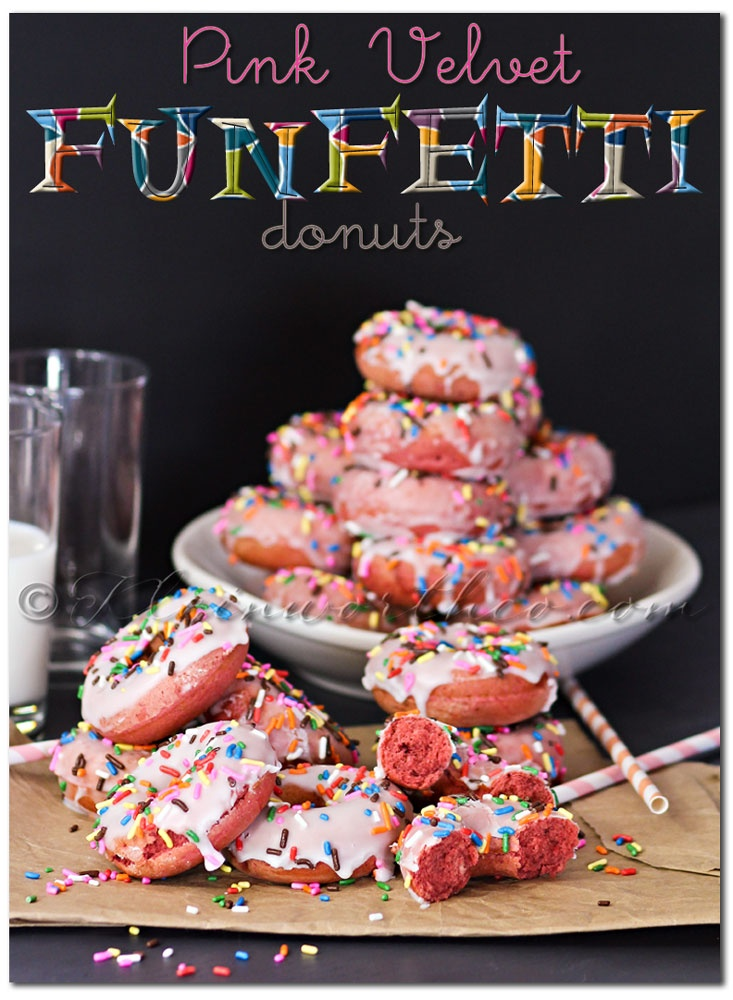 Pink Velvet Funfetti Donuts... Delish and adorable! kleinworthco.com