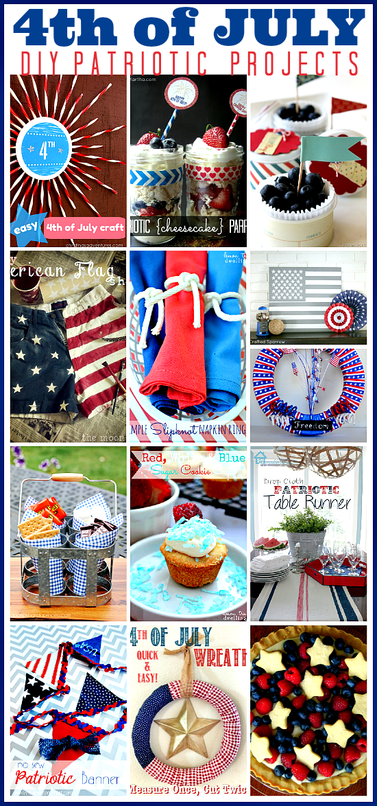 Awesome DIY 4th of July Ideas... Loving the red, white and blue! the36thavenue.com