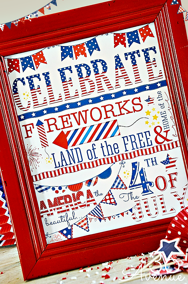 4th of July Printable... Print it for free at the36thavenue.com