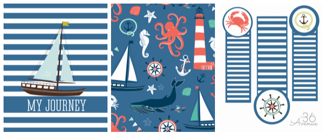 Boy Nautical Journal Printable