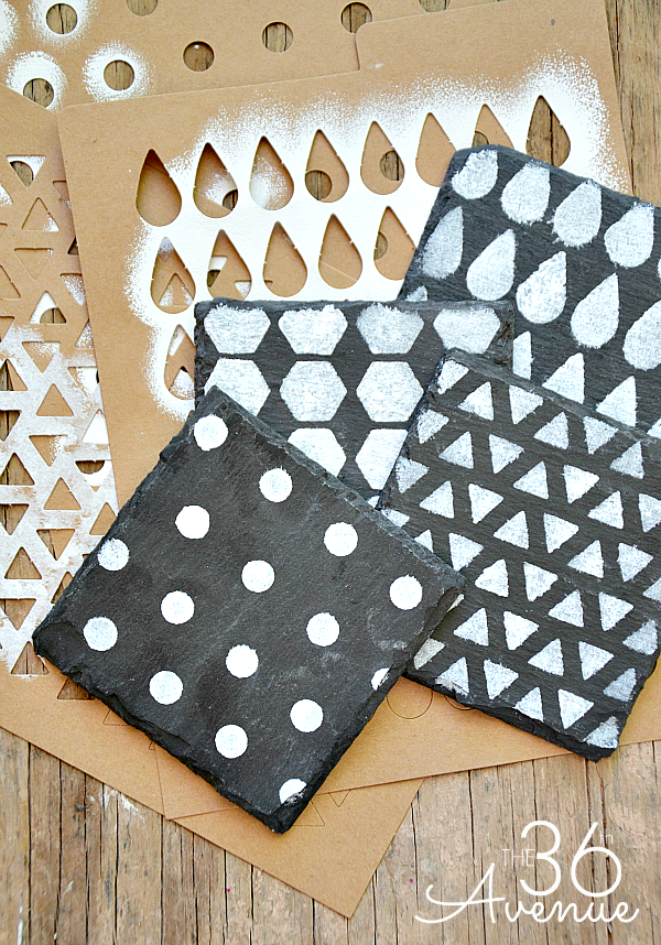 Super easy DIY Coasters Tutorial at the36thavenue.com These would make great gifts!
