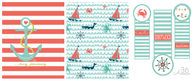 Journal Nautical Kit Printable