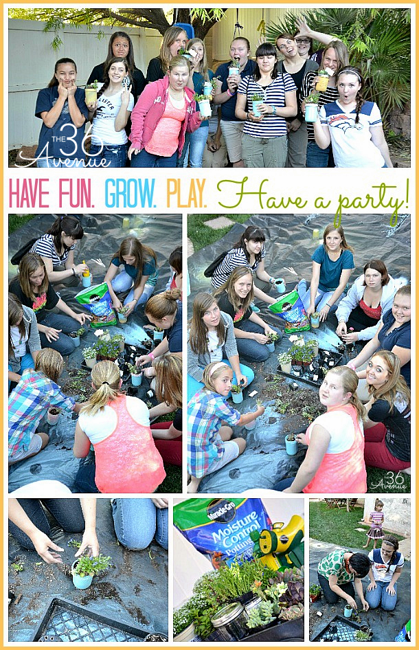 Garden Party! Super cute DIY Mini  Garden... This would make such a cute gift! the36thavenue.com
