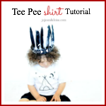 Adorable Tee Pee Shirt Tutorial