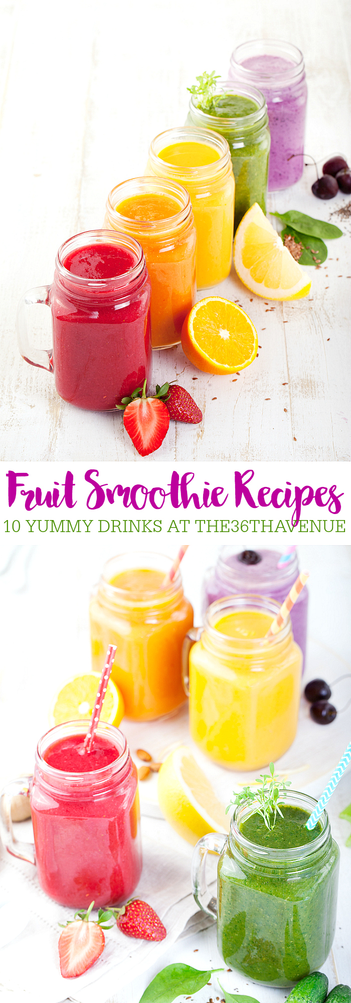 Fruit Smoothie Recipes at the36thavenue.com