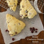 Skinny Cranberry Orange Scones