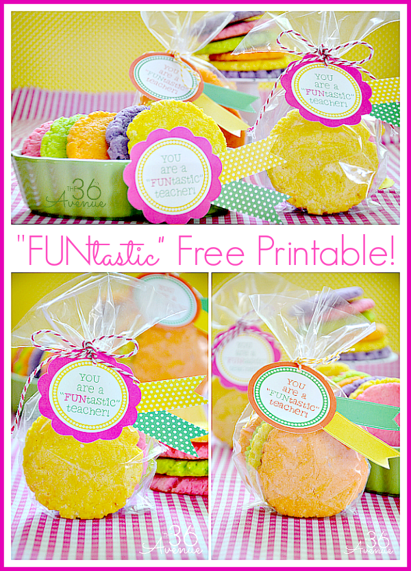 Teacher's Gift Idea and free printable by the36thavenue.com