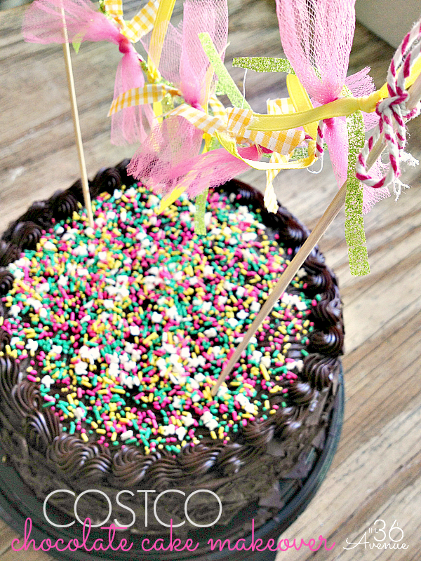 How to spruce up a store bought cake. Cute ideas at the36thavenue.com