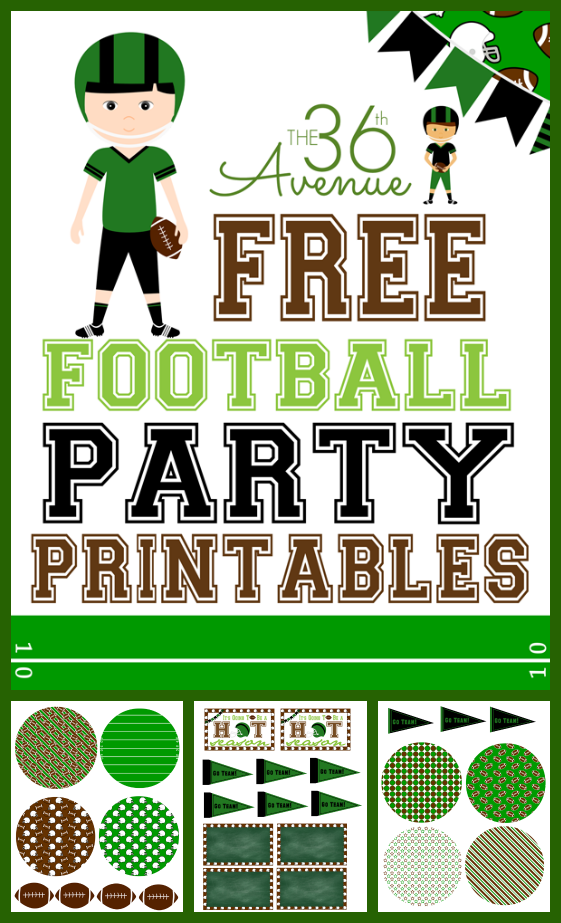 It's just an image of Rare Free Football Printables