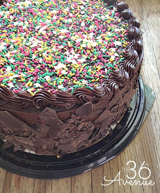 Funfetti Chocolate Cake at the36thavenue.com