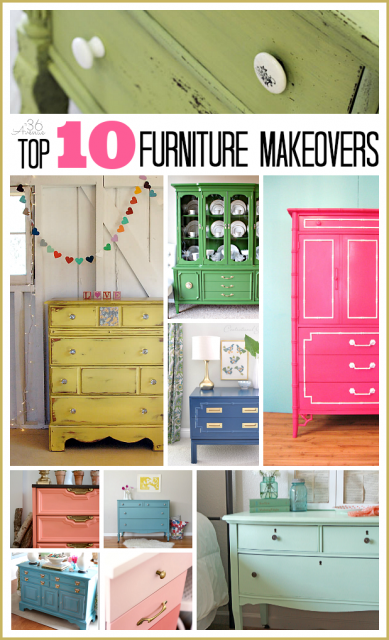 Top 10 Furniture Makeovers at the36thavenue.com I love the colors!