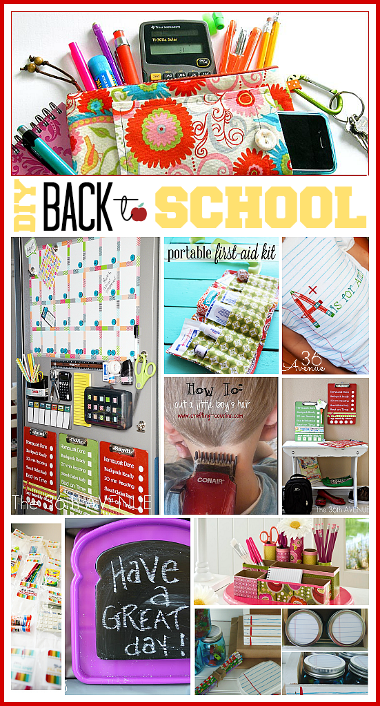 diy back to school ideas the 36th avenue