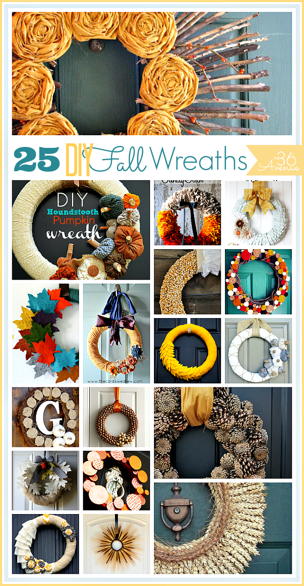 25 Handmade Fall Wreaths at the36thavenue.com These are awesome!