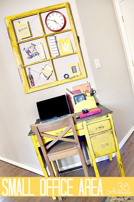 Small Office Makeover and Organization Ideas at  the36thavenue.com