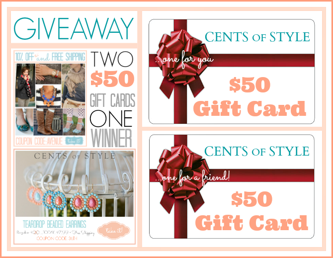 Cents of Style Giveaway the36thavenue.com