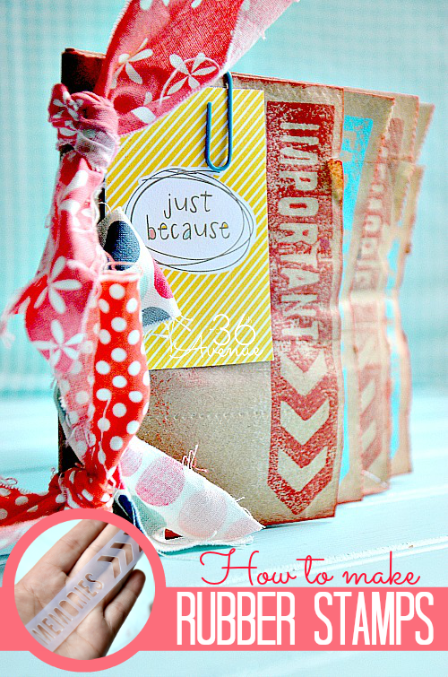 How to make perfect custom rubber stamps and mini albums at the36thavenue.com