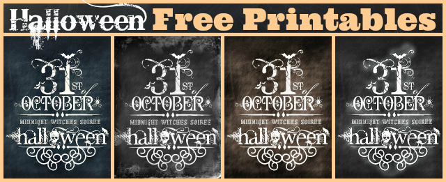 Halloween Free Printables at the36thavenue.com Pick your favorite and print it!