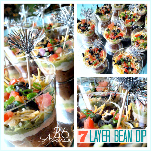 Seven Layers Bean Dip at the36thavenue.com This is SO GOOD!