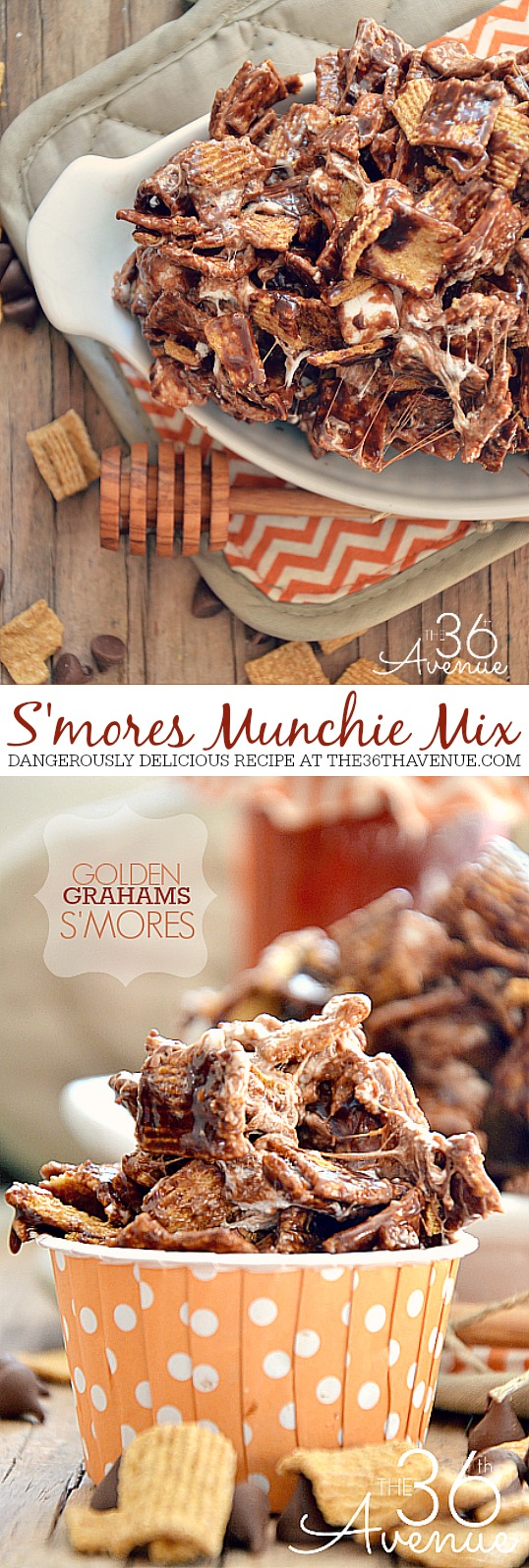 Smore Munchie Mix Recipe at the36thavenue.com These are divine!