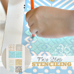 Two Step Stenciling ~ DIY Wall Art