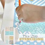 Two Step Stenciling ~ DIY Wall Art