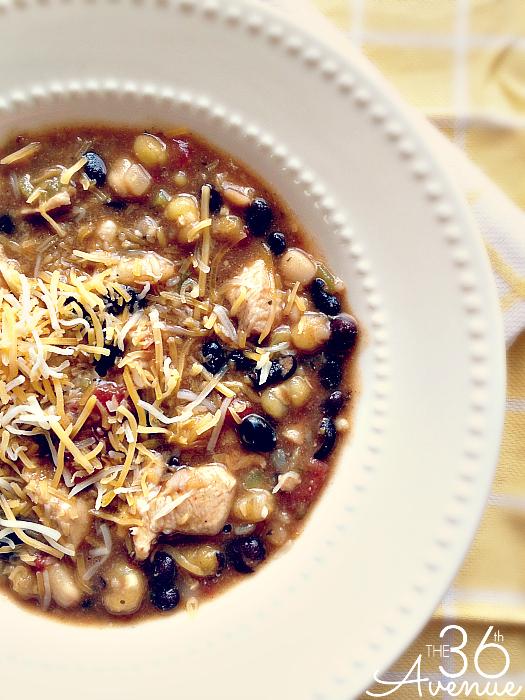 Chicken Chili Recipe at the36thavenue.com So good!