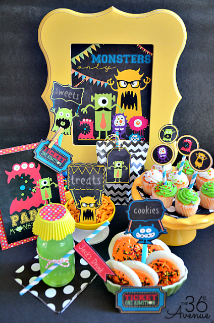 Monster Party www.the36thavenue.com #MonstersU